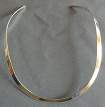 Vintage Sterling Silver Rigid Collar Necklace Signed SX 925 MEXICO - $32.99