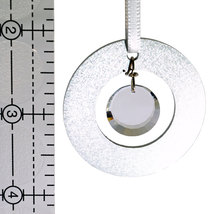 Small Aluminum and Crystal Circle Ornament - Disc image 4