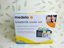 Medela Breastmilk Cooler Set w/4 5 oz Bottles, Lids, Cooler, Ice Pack - $14.84