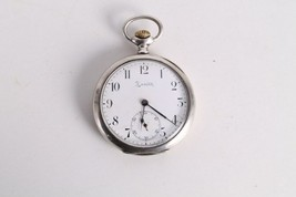 Antique Vintage Old Swiss Made Zenith Grand Prix 1900 Silver Pocket Watch. - $276.21