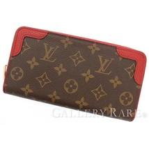 LOUIS VUITTON Zippy Wallet Retiro Monogram Cerise M61854 Authentic 5484911 - $766.25