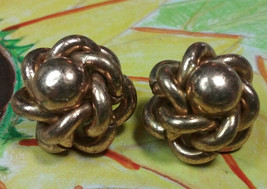 "Vintage Jewelry:; 3/4"" Copper Tone"" Pat. 196766"" Clip On  Earrings 170902 - $9.99"