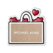 Michael Kors I Love Shopping Luggage Backpack Leather Laptop Sticker Patch - $8.91