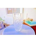 "Heavy Irish Design Crystal Diamond Pattern 8"" Flower Vase - $39.59"