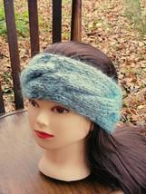 Turban Headband Turban Gray Azure Green Turban Headwrap Headband - $22.28