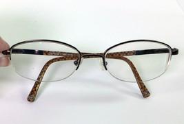 Coach Designer Eyeglass Frames Half Rimless Faye Tan Eyeglasses 118 51 1... - $22.72