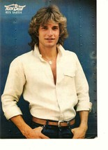 Rex Smith teen magazine pinup clipping open shirt Teen Beat 1970's - $1.50