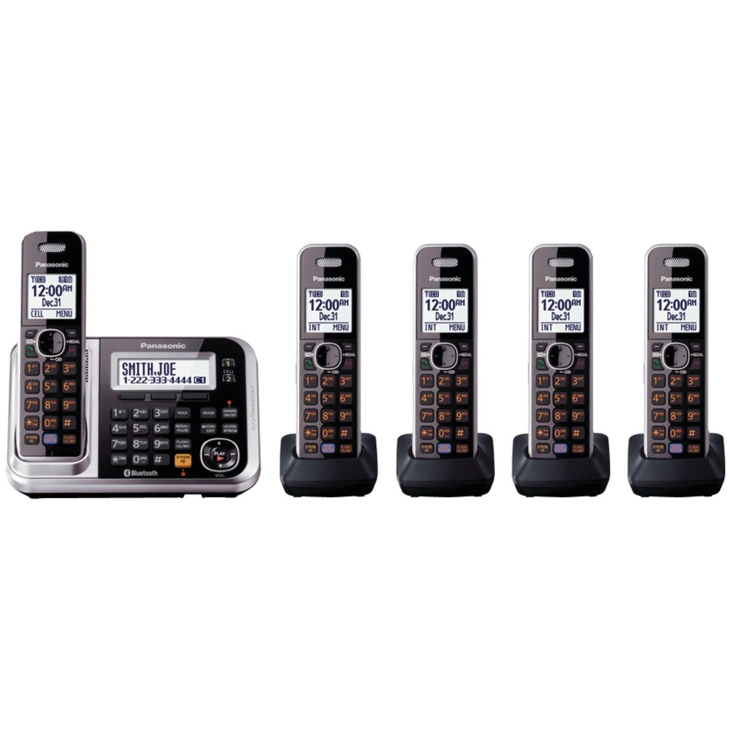 Panasonic KX-TG7875S Link2Cell Bluetooth Cordless Phone with Enhanced Noise R...