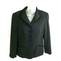 Pendleton Women's Blazer Jacket Size 10 Petite Black Velvet Like Accents... - $16.62
