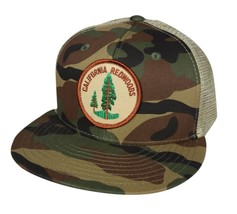 California Redwoods Trucker Hat by LET'S BE IRIE - Camouflage and Khaki ... - £15.43 GBP