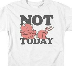 """Hot Stuff Little Devil t-shirt """"Not Today"""" retro comic book graphic tee DRM345 image 2"""