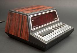 Vintage Spartus Faux Wood Grain Digital Alarm Clock - $17.41