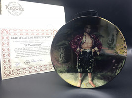 "VTG Knowles Collector Plate A Puzzlement ""The King and I"" COA Box 3500M ... - $22.99"