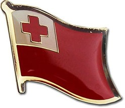 ALBATROS Pack of 6 Tonga Country Flag Lapel Pin for Bike Hat and Cap for... - $38.93