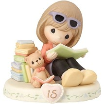 Precious Moments 162014B Brunette Girl Growing In Grace, Age 15 Birthday... - $58.48