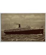 Old White Border Era Postcard SS Fairfax Merchants and Miners Transporta... - $13.67
