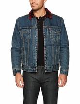 Levi's Men's Classic Button Up Cotton Sherpa Trucker Jacket image 2