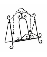 Gastro Chic Cook Book Stand, Artisinal Design, Weighted Drop Chain Page ... - $34.17