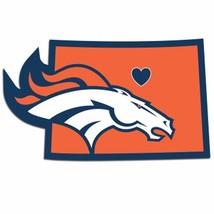 NFL Denver Broncos Home State Auto Car Window Vinyl Decal Sticker - $4.95