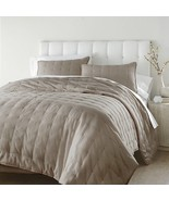 3-Pieces Riley Tufted Solid Reversible 100% Cotton Soft-Finished Quilt S... - $65.99+