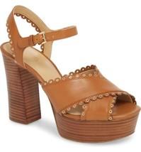 Michael Michael Kors Women Strappy Sandal Jessie Platform Size US 10 Acorn Brown - $50.94
