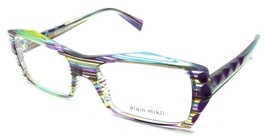 Alain Mikli Rx Eyeglasses Frames A03031 3086 53x17 Purple Violet Turquoise Wires - $103.41
