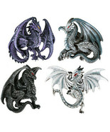 Dragon's Lair Ruth Thompson Set of 4 Collectible Sculptural Dragons... - $12.86