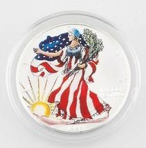 1999 1oz Amerikanischer Silberadler Bemalt mit Etui und Zertifikat - $78.14