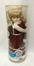 "Christina Victorian Christmas Porcelain Doll 16"" EPI International Vinta... - $26.70"