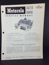 Motorola 1955 Hudson Hornet Wasp Auto Radio Service Manual Model HN5AC-8 - $14.84