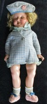 """Antique IDEAL SHIRLEY TEMPLE Doll 1930'S 18"""" with Teeth and Green Eyes - $693.00"""