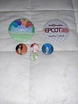 Lot Of 6 Vintage Walt Disney World Button Pinback Epcot 30th Anniversary Alice - $6.67