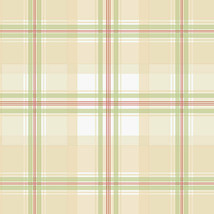 Plaid Wallpaper Green, Red, Cream Norwall Wallcovering KE29915 - $34.99