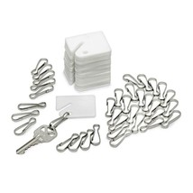 White Plastic Key Tags (100-Pack) - $32.70