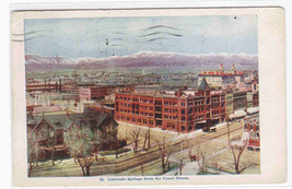 Panorama Colorado Springs CO 1909 postcard - $5.45