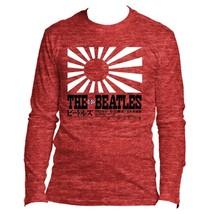 The Beatles Rising Sun - Mens Cardinal Long Sleeve T-Shirt - $33.00