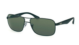 Ray Ban RB3516 006/9A Black Frame Green Classic Lens Sunglasses 59mm - $101.85