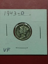 1943-D Mercury Silver Dime - Better Grade - Free Shipping - $5.93
