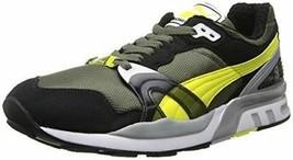 Puma Trinomic XT 2 Men's Black Yellow Olive Running Shoes Fashion Sneake... - $58.99