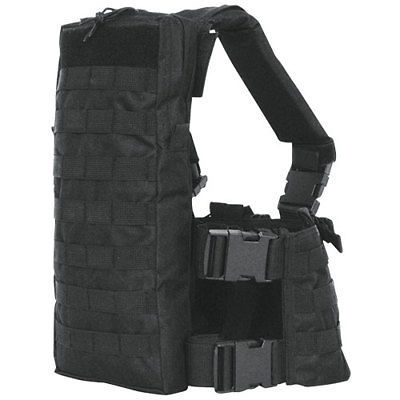 Tactical Military Commando MOLLE Chest Rig Mag Carrier /& Hydro Pack   SWAT BLACK