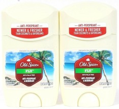 2 Old Spice FIJI With Palm Tree Coconuts Antiperspirant Deodorant 1.7 oz - $17.99