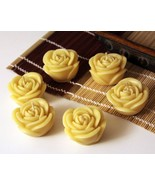 Handmade 100% Pure Beeswax Rose Shape Tee Candles 100% Cotton Wick US made - €7,81 EUR - €11,52 EUR