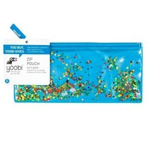 Glitter Zip Pencil Case Blue - Yoobi153; Multicolor
