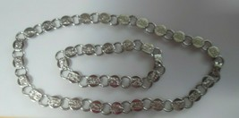 Vintage Signed SAC Sarah Coventry Silver-tone Necklace & Bracelet Etched Flowers - $32.50