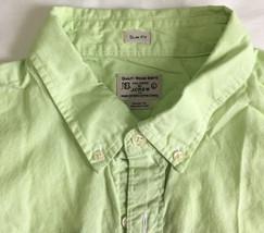J.Crew shirt front buttons cotton Men Sz L Green SLIM FIT Worn Once - $13.99