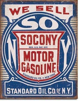 Socony Standard Motor Oil Gasoline Metal Sign Tin New Vintage Style USA #2000