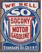 Socony Standard Motor Oil Gasoline Metal Sign Tin New Vintage Style USA ... - $10.29