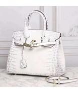 35cm Crocodile Pattern Italian Leather Birkin Style Bag Satchel Handbag... - $168.25