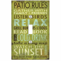 Patio Rules Light Switch Plate Wall Outlet Cover Room Summer - $6.88+