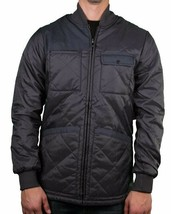 KR3W krew Men's Charcoal Grey Quilted Jack EE Jacket Fall/Winter Coat K22163 NWT